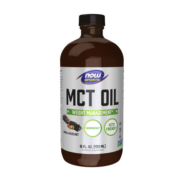 Now Foods, Sports, MCT Oil, Vanilla Hazelnut, 16 fl oz (473 ml) - Bloom Concept