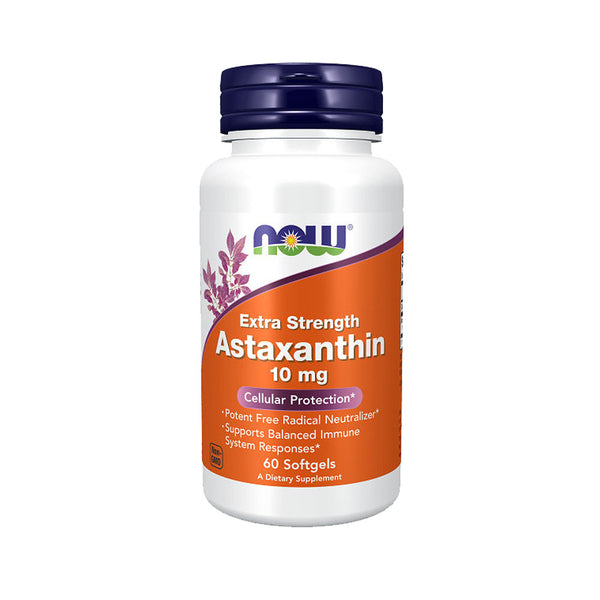 Now Foods, Astaxanthin, Extra Strength, 10 mg, 60 Softgels - Bloom Concept