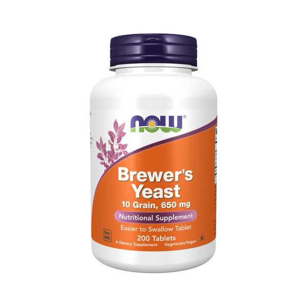 NOW Foods Brewer's Yeast 650 mg 200 Tablets - Bloom Concept