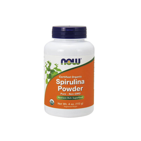 Now Foods, Certified Organic Spirulina Powder, 4 oz (113g) - Bloom Concept