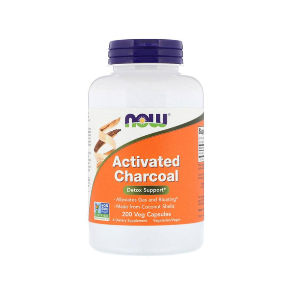 Now Foods, Activated Charcoal, 200 Veg Capsules - Bloom Concept