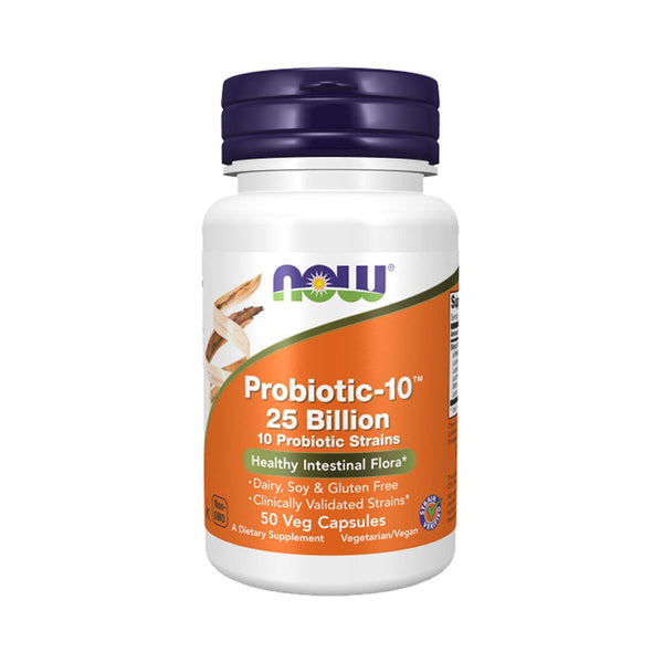 NOW Foods Probiotic-10 25 Billion 50 Veg Capsules - Bloom Concept