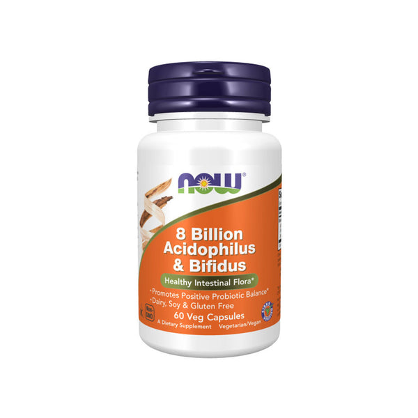NOW Foods 8 Billion Acidophilus & Bifidus 60 Veg Capsules - Bloom Concept