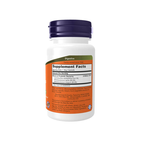 NOW Foods 8 Billion Acidophilus & Bifidus 60 Veg Capsules - by Bloom Concept