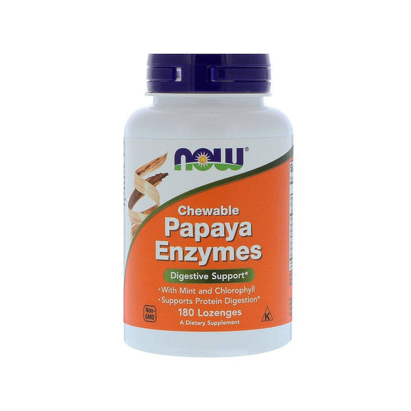 Now Foods, Chewable Papaya Enzymes, 180 Lozenges - Bloom Concept