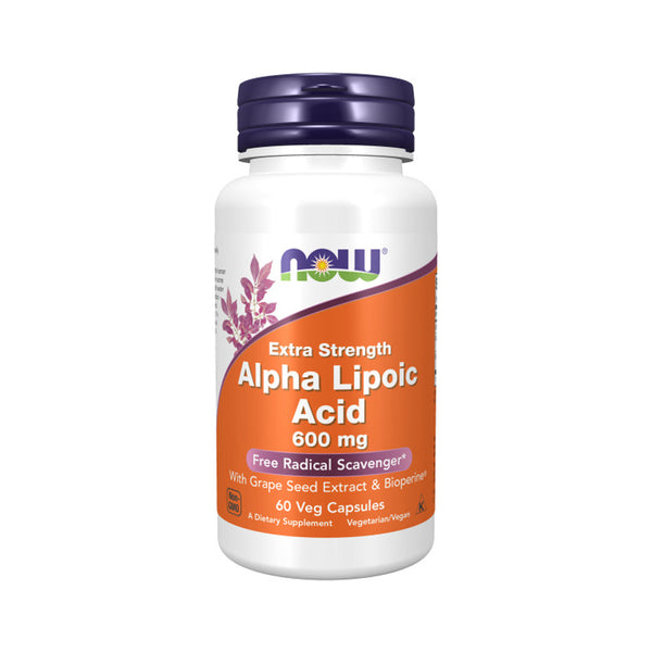 Now Foods, Alpha Lipoic Acid, Extra Strength, 600 mg, 60 Veg Capsules - Bloom Concept