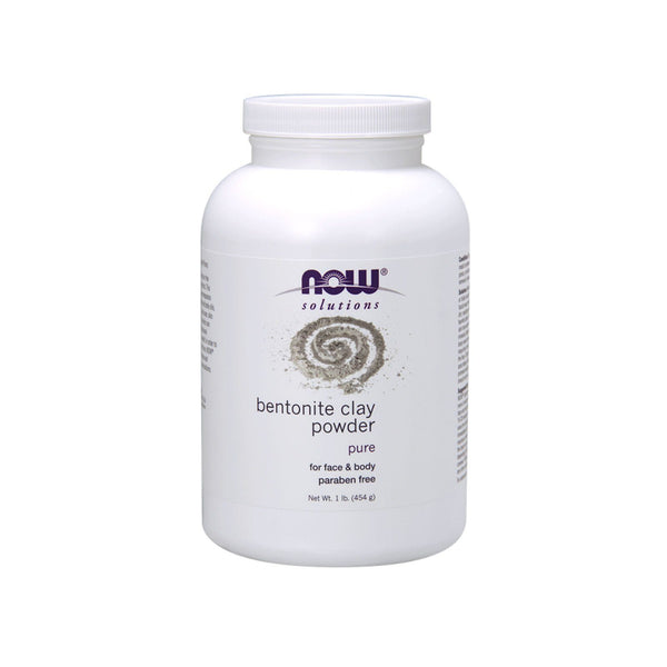 Now Foods, Solutions, Bentonite Clay Powder, 1 lb (454 g) - Bloom Concept
