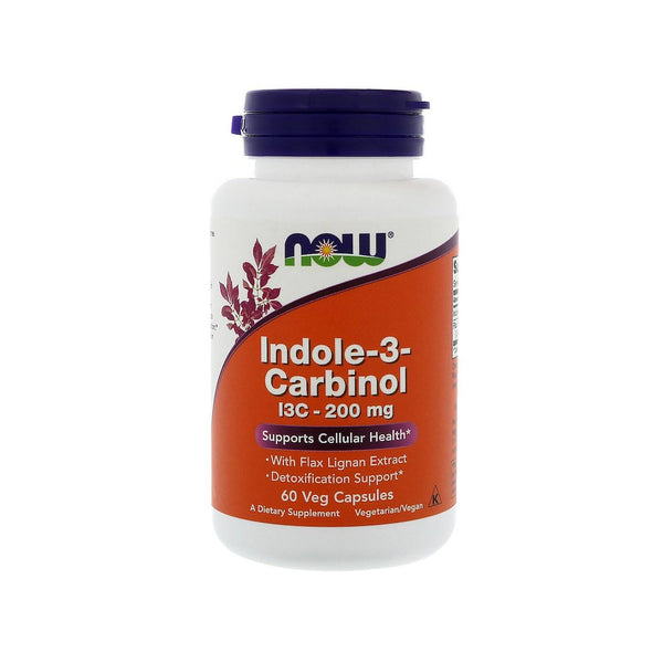 Now Foods, Indole-3-Carbinol, 200 mg, 60 Veg Capsules - by Bloom Concept