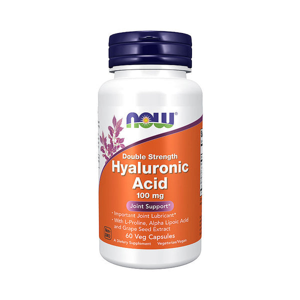 Now Foods, Hyaluronic Acid, Double Strength, 100 mg, 60 Veg Capsules - Bloom Concept