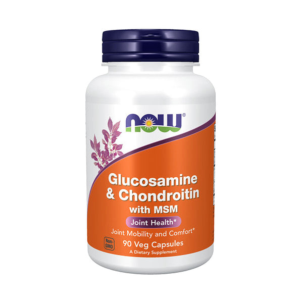 Now Foods, Glucosamine & Chondroitin with MSM, 90 Capsules - Bloom Concept