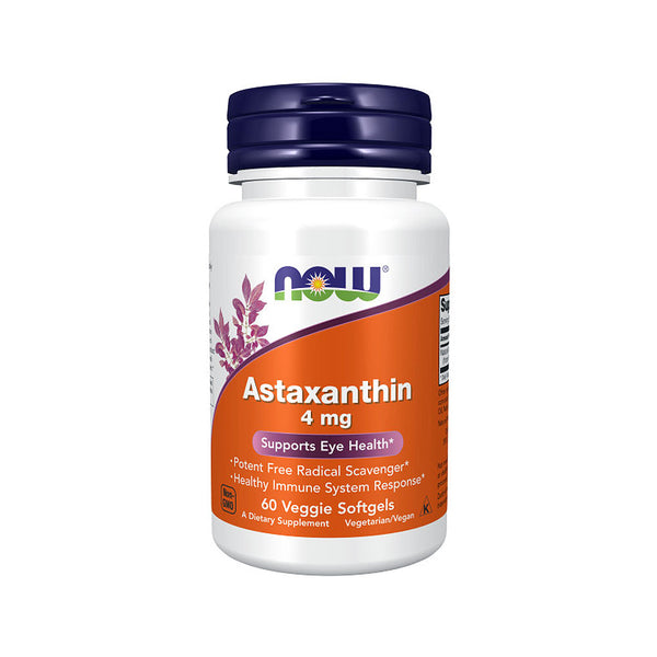 Now Foods, Astaxanthin, 4 mg, 60 Veggie Softgels - Bloom Concept