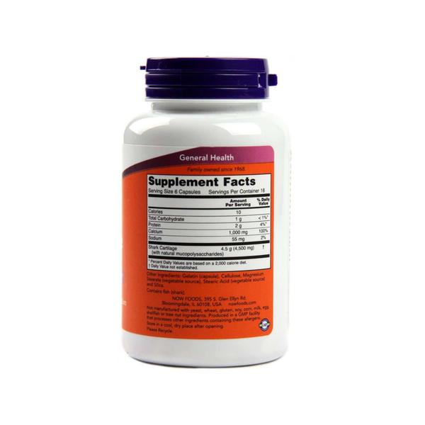 Now Foods, Shark Cartilage 750 mg, 100 Capsules - Bloom Concept