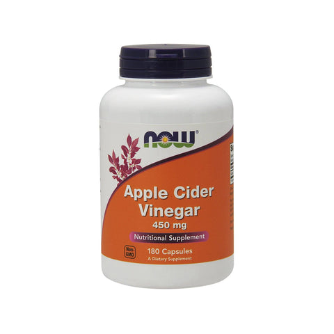 Now Foods, Apple Cider Vinegar, 450 mg, 180 Capsules - Bloom Concept