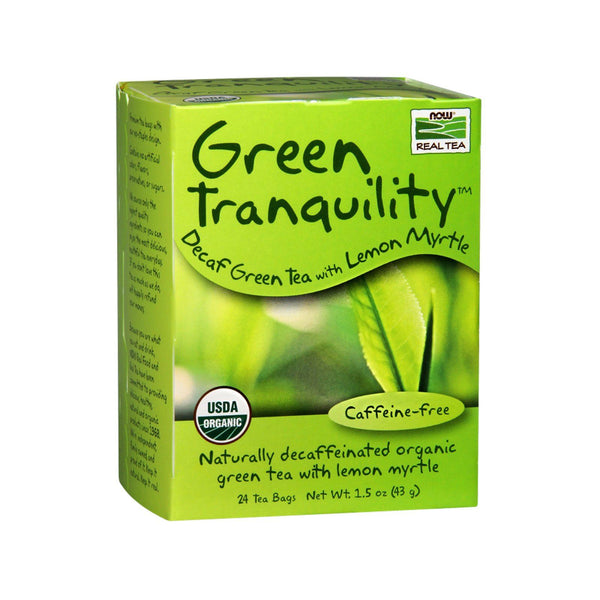 Now Foods, Green Tranquility™ Tea, Organic, 24 Tea Bags, 1.7 oz (48 g) - Bloom Concept
