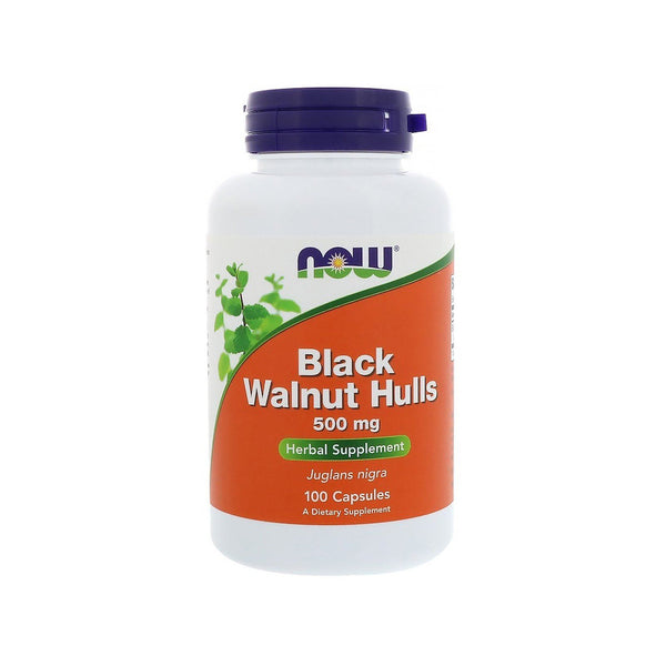 Now Foods, Black Walnut Hulls, 500 mg, 100 Capsules - Bloom Concept
