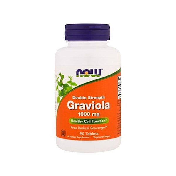 Now Foods, Graviola, Double Strength, 1000 mg , 90 Tablets - by Bloom Concept