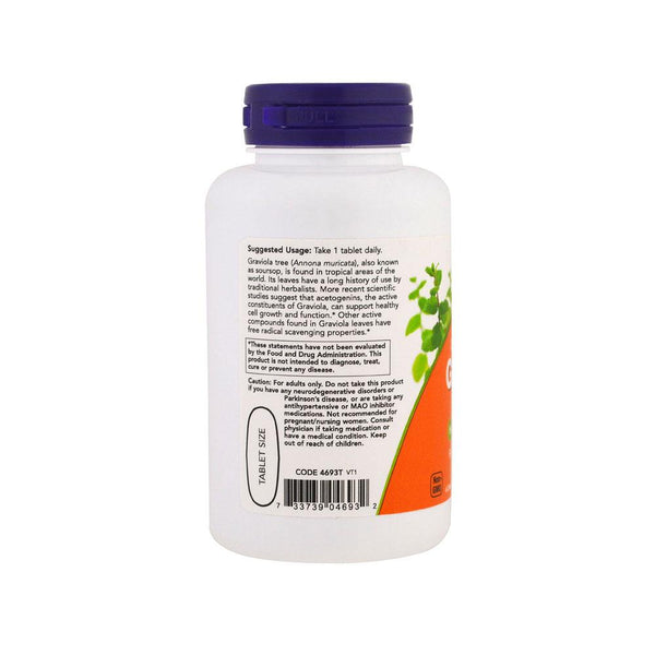 Now Foods, Graviola, Double Strength, 1000 mg , 90 Tablets - Bloom Concept