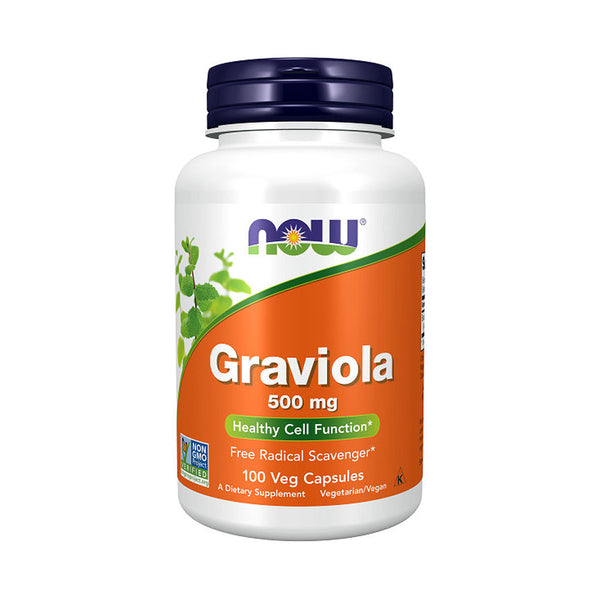 NOW Foods Graviola 500mg 100 Veg Capsules - Bloom Concept