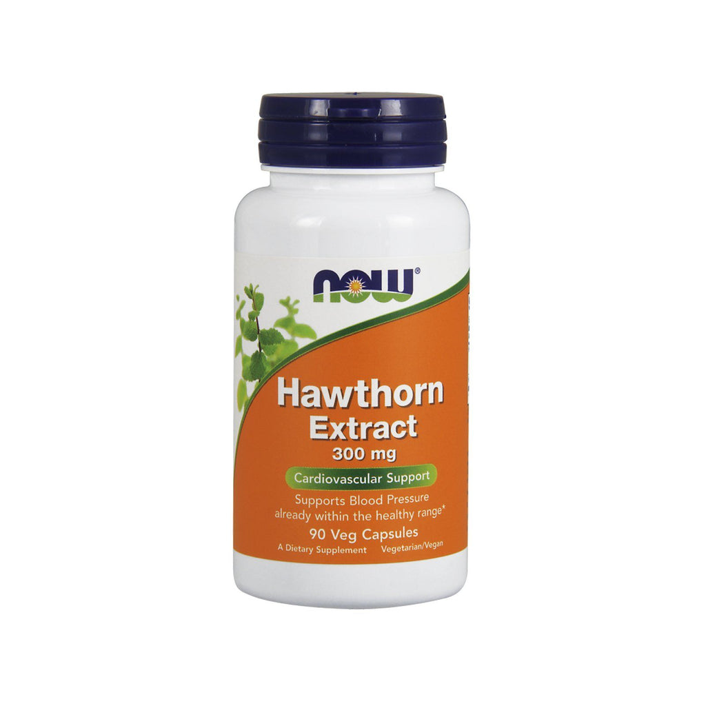 Now Foods, Hawthorn Extract, 300 mg, 90 Veg Capsules - by Bloom Concept