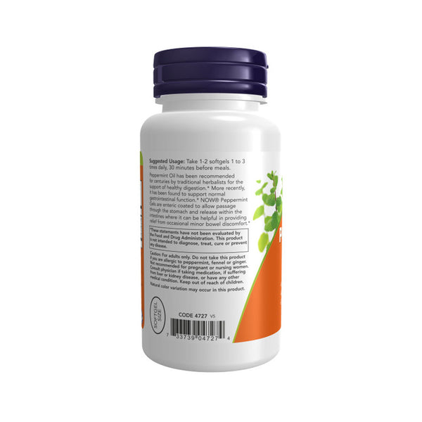 Now Foods, Peppermint Gels, 90 Softgels - Bloom Concept