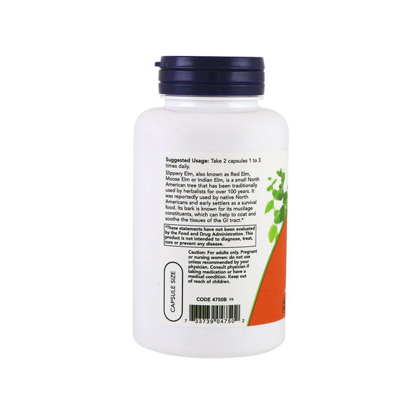 Now Foods, Slippery Elm, 400 mg, 100 Capsules - Bloom Concept