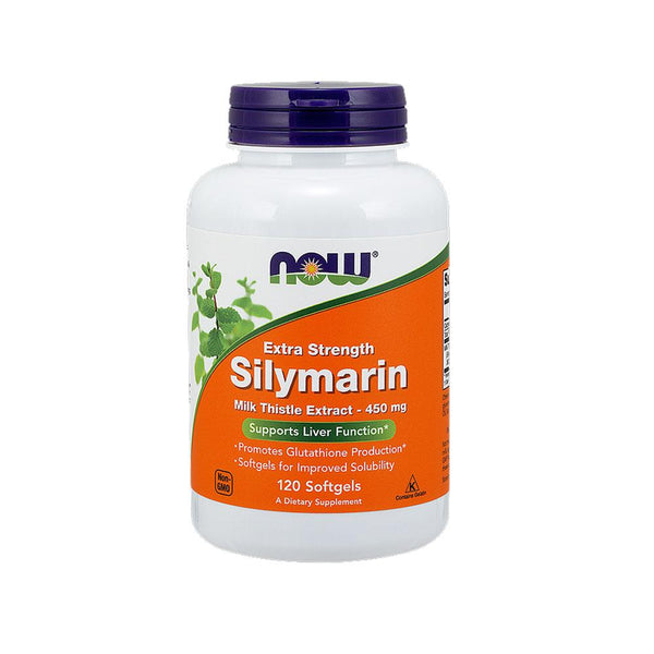 Now Foods, Silymarin, Extra Strength 450mg, 120 Softgels - Bloom Concept