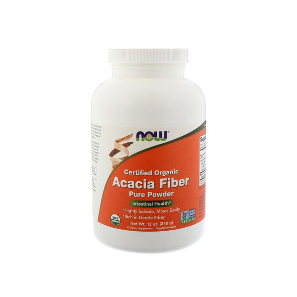 Now Foods, Certified Organic, Acacia Fiber Powder, 12 oz (340 g) - Bloom Concept
