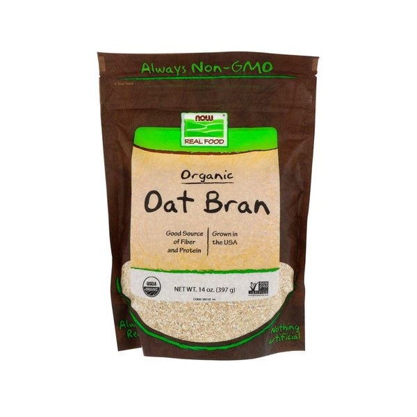 Now Foods, Real Food, Organic Oat Bran, 14 oz (397 g) - Bloom Concept