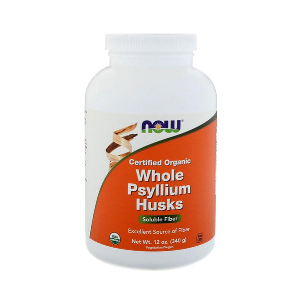 Now Foods, Certifed Organic Whole Psyllium Husks, 12 oz (340 g) - Bloom Concept