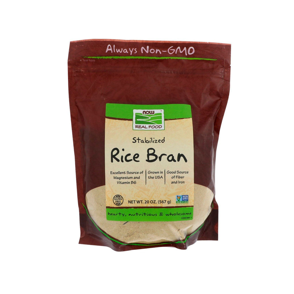 Now Foods, Real Food, Stabilized Rice Bran, 20 oz (567 g) - Bloom Concept