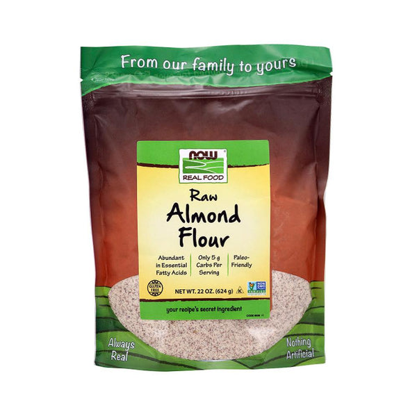 (Buy 1 Get 1 Free) Now Foods, Real Food, Raw Almond Flour, 22 oz (624 g) (Best by 05/21) - Bloom Concept