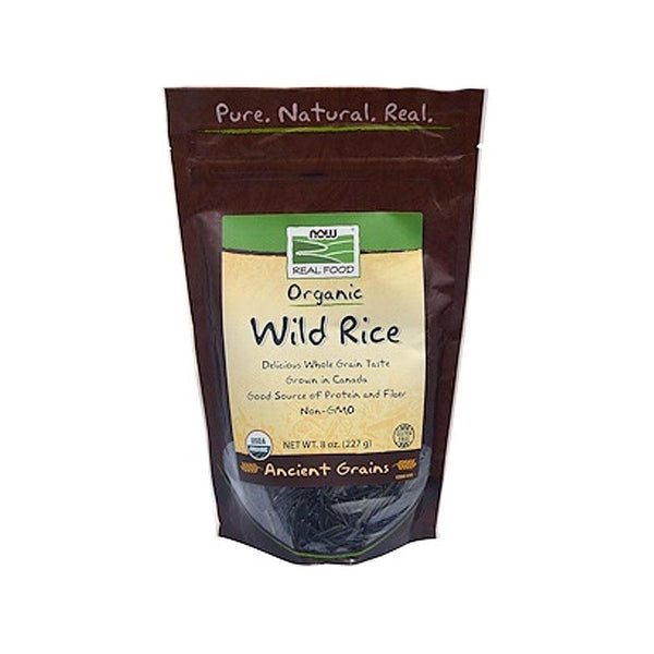 Now Foods, Real Food, Organic, Wild Rice, 8 oz (227 g) - Bloom Concept