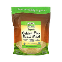 Now Foods, Real Food, Certified Organic, Golden Flax Seed Meal, 22 oz (624 g) - Bloom Concept