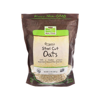 Now Foods, Organic Steel Cut Oats, 2 lbs (907 g) - Bloom Concept