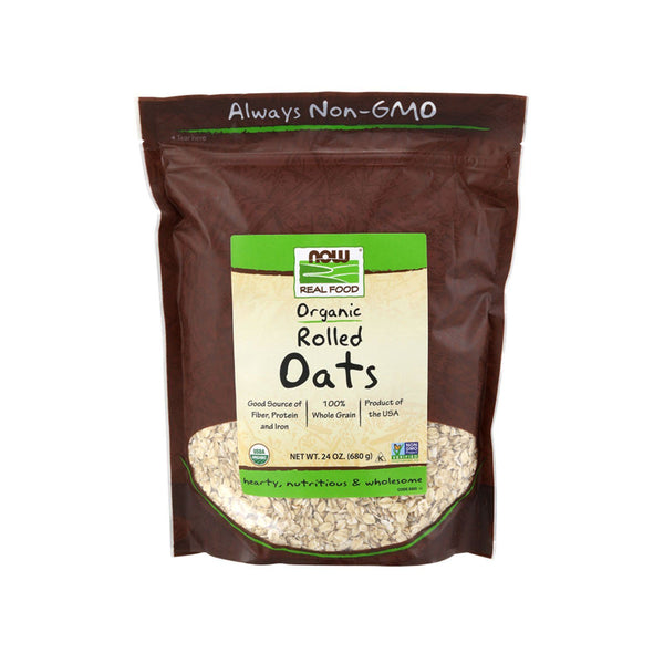 Now Foods, Organic Rolled Oats, 24 oz (680 g) - Bloom Concept