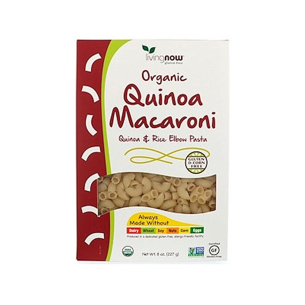 Now Foods, Organic Quinoa Macaroni, Gluten-Free, 8 oz (227 g) - Bloom Concept