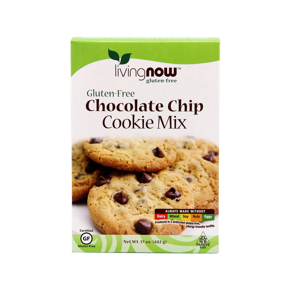 Now Foods, Chocolate Chip Cookie Mix, Gluten-Free, 17 oz (482 g) - Bloom Concept