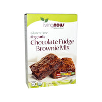 Now Foods, Real Food, Organic, Chocolate Fudge Brownie Mix, Gluten-Free, 16 oz (454 g) - Bloom Concept