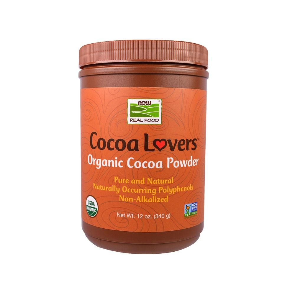Now Foods, Real Food, Cocoa Lovers, Organic Cocoa Powder, 12 oz (340 g) - Bloom Concept