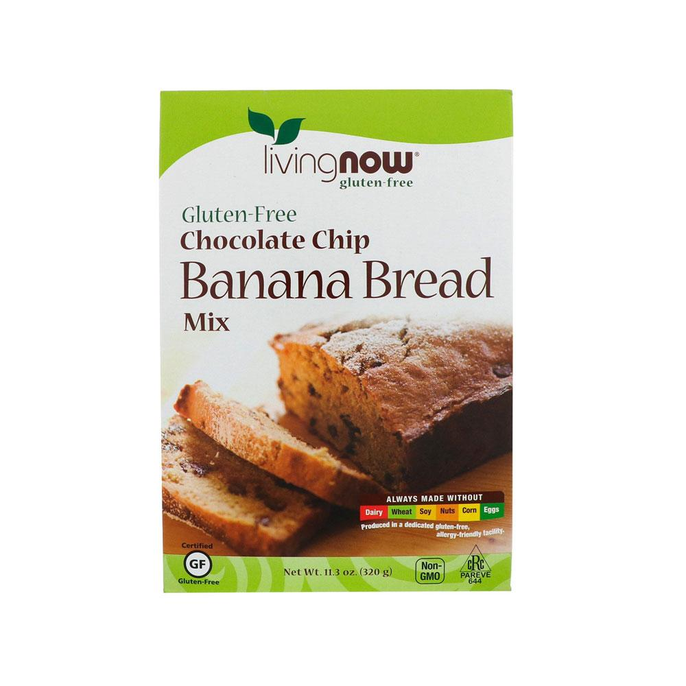 Now Foods, Chocolate Chip Banana Bread Mix, Gluten-Free, 11.3 oz (320 g) - by Bloom Concept