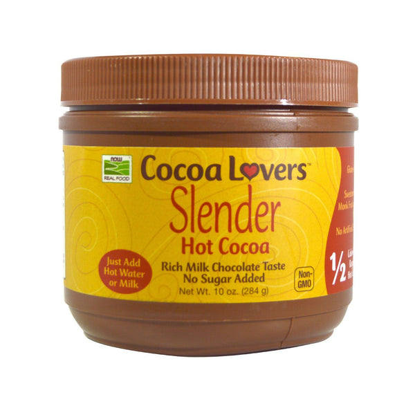 Now Foods, Real Food, Slender Hot Cocoa, 10 oz (284 g) - Bloom Concept