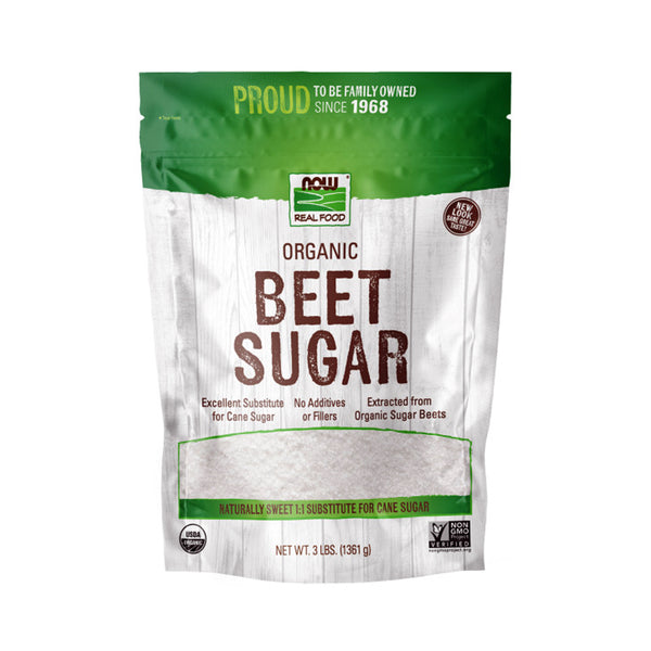 Now Foods, Real Food, Beet Sugar, 3 lbs (1361 g) - Bloom Concept