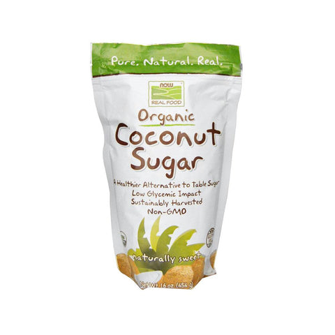 Now Foods, Real Food, Organic Coconut Sugar, 16 oz (454 g) - Bloom Concept
