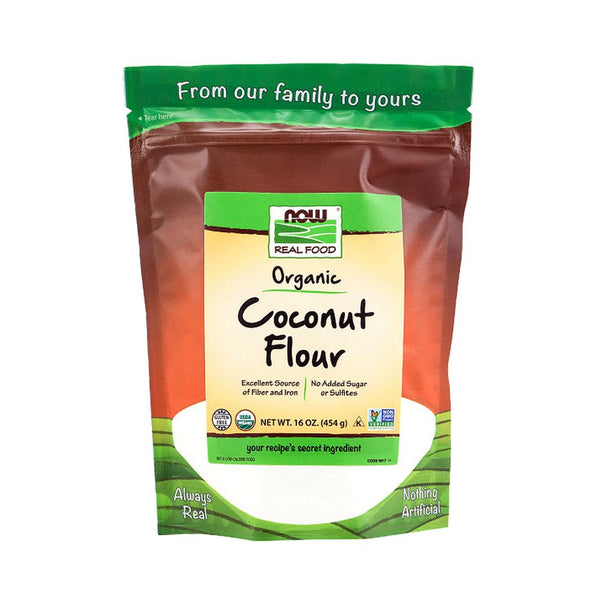 Now Foods, Organic Coconut Flour, 16 oz (454 g) (Best by 07/21) - Bloom Concept