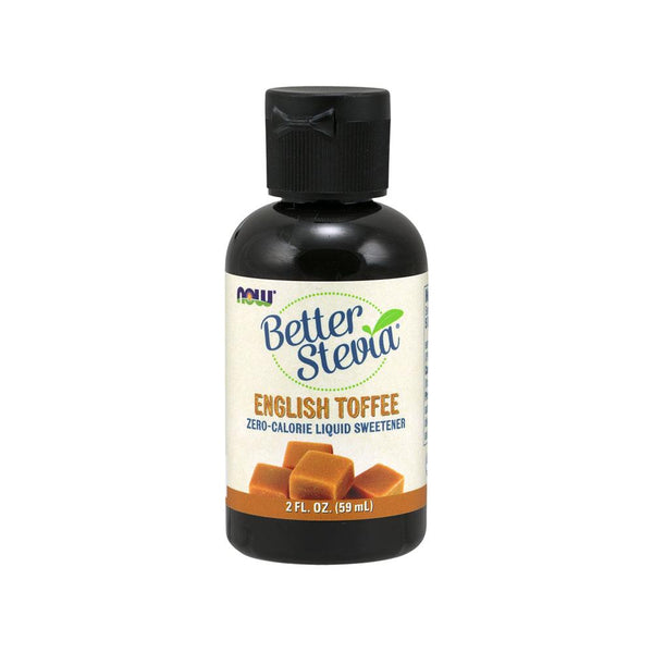 Now Foods, BetterStevia Liquid Sweetener, English Toffee, 2 fl oz (60 ml) - Bloom Concept