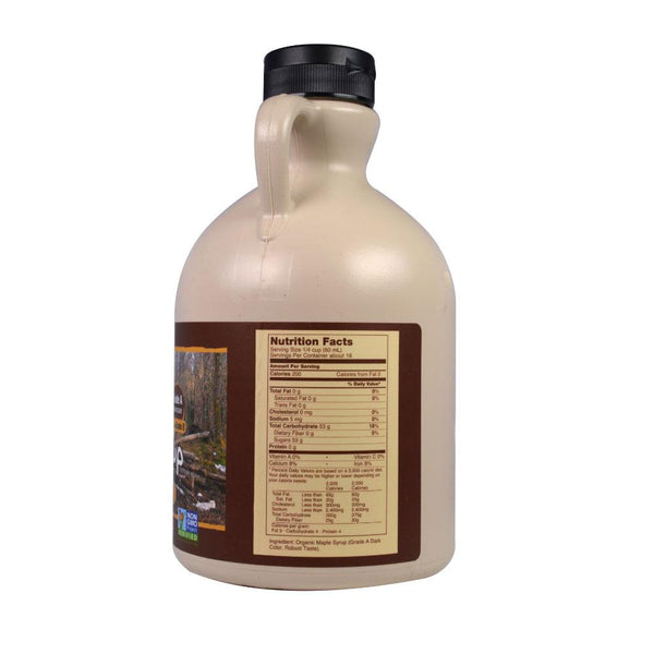 Now Foods, Real Food, Organic Maple Syrup, Grade A, Dark Color, 32 fl oz (946 ml) - Bloom Concept