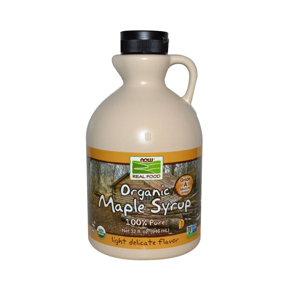 Now Foods, Real Food, Organic Maple Syrup, Grade A, Medium Amber, 32 fl oz (946 ml) - Bloom Concept