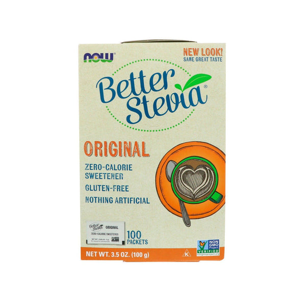 Now Foods, BetterStevia, Zero Calorie Sweetener, Original, 100 Packets, 3.5 oz (100 g) - Bloom Concept