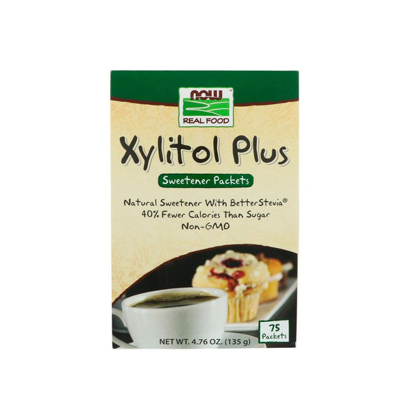 Now Foods, Xylitol Plus, 75 Packets, 4.76 oz (135 g) - Bloom Concept