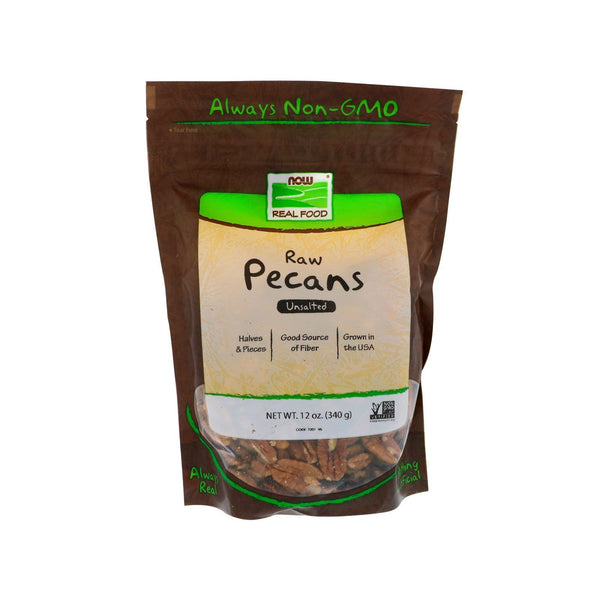 Now Foods, Raw Pecans, Unsalted, 12 oz (340 g) - Bloom Concept